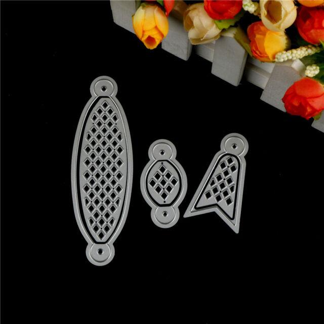 6Pcs Bow Tie Design Metal Cutting Die For DIY Scrapbooking Album Paper Cards TCA