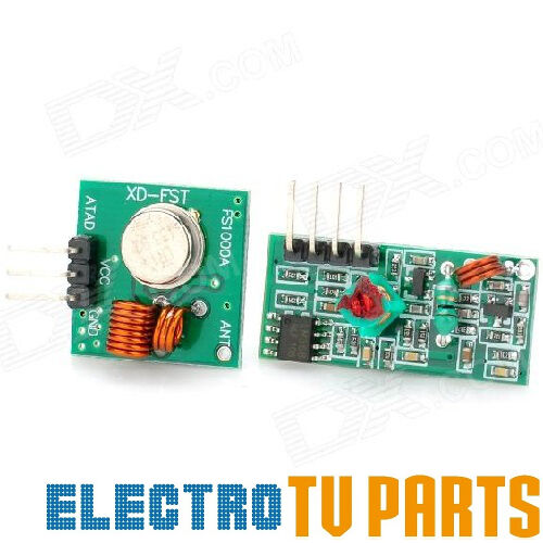 433MHz RF Transmitter and Receiver Pair for Pi Arduino ASK OOK - Remote Wireless