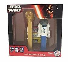 Rare Pez Star Wars 2015 Collectible Box Set With R2D2, C3PO & 3 Packs of Candy