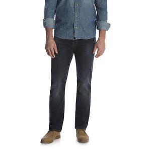 Wrangler-Dark-Blue-Men-039-s-Comfort-Flex-Waistband-Slim-Straight-Leg-Denim-Jeans