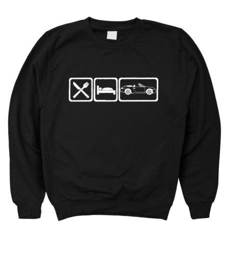Homme Eat Sleep PORSCHE 911 CARRERA CABRIOLET 996 Sweat-shirt S 5XL