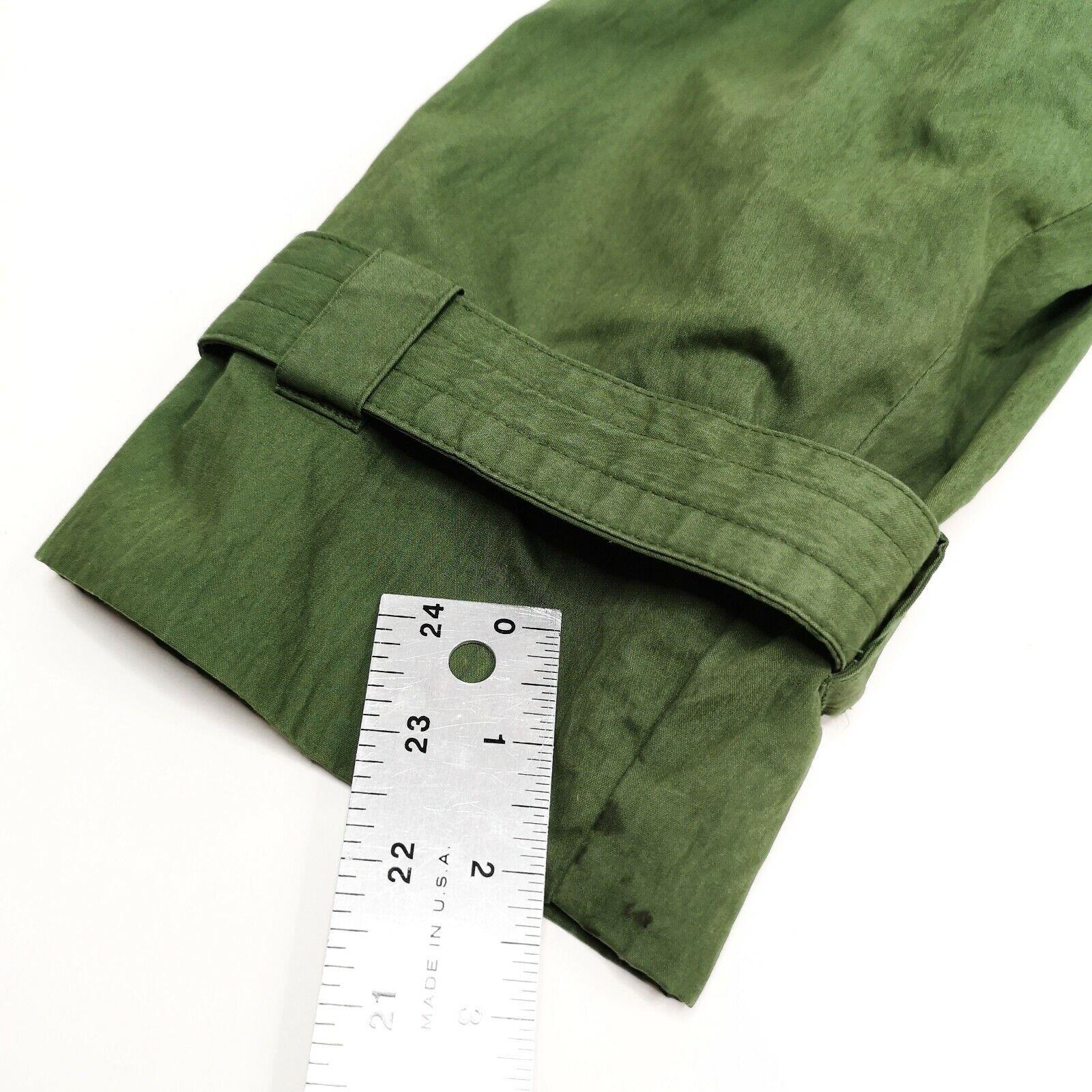 MISTY HARBOR Trench Coat Jacket 8 Olive Green - image 7