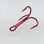 100pcs-Rouge-Hi-Acier-Carbone-peche-hamecons-Aiguises-Treble-Hooks-Tackle-pleine-taille miniature 2