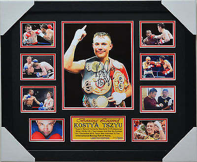 "KOSTYA TSZYU Boxing Champions Gold  Photo Plaque /""FREE POSTAGE/"""