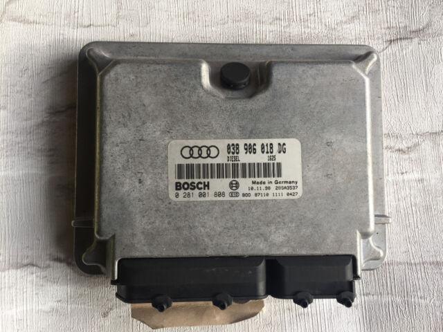 AUDI A6 1.9 TDI VW ECU ENGINE BOSCH DIESEL 038906018DG 0281001808