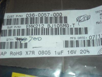 TAIYO Yuden # EMK212BJ105MG-T CAPACITOR 0805 X7R 16V 1.0uF 20/%  100 PCS