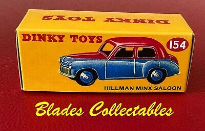 DINKY TOY 181 QUALITY REPRO BOX VOLKSWAGEN BLUE//GREY by Blades Collectables