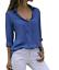 Women-039-s-Chiffon-Long-Sleeve-V-Neck-Blouses-Tops-Button-Down-Business-Blouse thumbnail 15