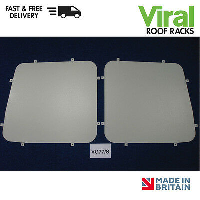 Van Guard Rear Window Security Grille Safety Steel Pair Renault Trafic 2014 on