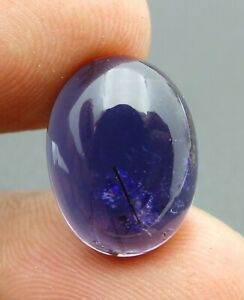 Natural Iolite Loose Gemstone 12X16MM Oval Cabochon 8.20-Cts S101