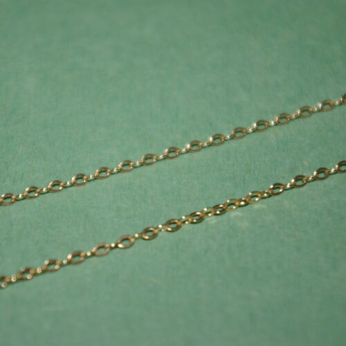 """5 pieces 20/"""" 50cm 14kt GOLD FILLED Fine 1.5x2mm Flat CABLE Chain NECKLACES Lot"""