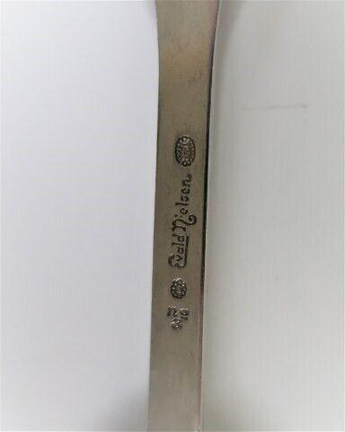 Bestik, Evald Nielsen sølvbestik no. 6. Sølv (830)....