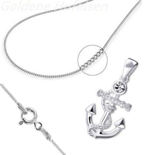 Anclajes de cristal remolques con cadena 925 real plata top idea de regalo k-579