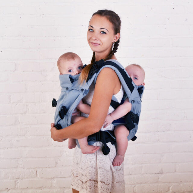 Malishastik Twins Carrier Adapt Back Carry Gray