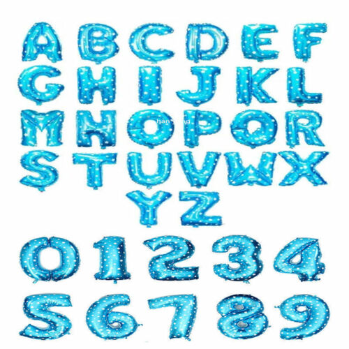 """Gold /& Silver 16/"""" Alphabet Letter Number A-Z Foil Balloons NAME PARTY WEDDING UK"""