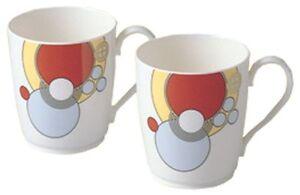 Noritake bone china Frank Lloyd Wright design tableware mug pair set P97280/4614