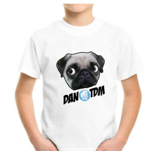 Dan-TDM-Pug-T-Shirt-Fun-l-Cart-Adventures-Kids-Gamers-gaming-Youtuber-Mobile-PC