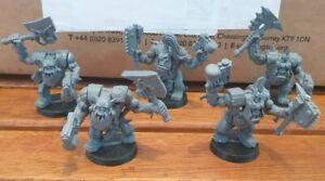 5 ORK NOBZ Assault on Black Reach Plastic Warhammer 40K