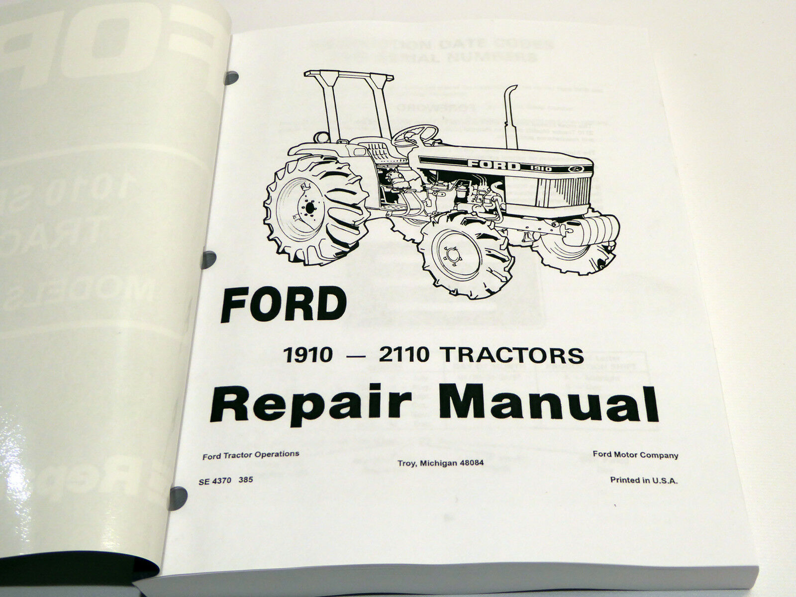 ford 1010 series 1910 2110 tractor service manual repair shop book w rh ebay com Ford 1910 Tractor Parts Diagram 1910 Ford Tractor Operators Manual