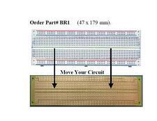 2x Stripboard 47x179mm breadboard double side Fiberglass pcb circuit board vero