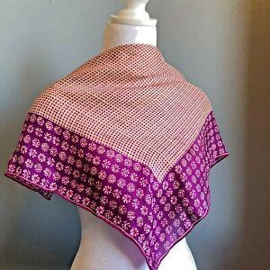 Vera-Neumann-21-034-Vintage-Silk-Blend-Purple-Dot-Pinwheel-Scarf-Made-in-J-apan