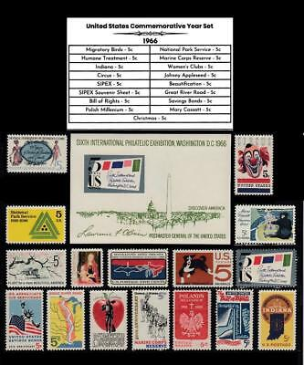 1966 STAMP YEAR SET MINT CONDITION ALL U.S. POSTAGE STAMPS ISSUED THAT YEAR
