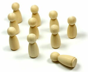 10-Holz-Spiel-Figuren-Poeppel-33mm-13mm-Spiele-Erfinder-selbst-bemalen-kreativ