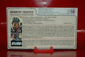 1985 Gijoe Trooper - Footloose (6182.40 Filecard Uncut) Rare Sears / Jcpenny!