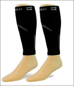 64e9ad0a22 Image is loading Zensah-Reflect-Compression-Leg-Sleeves-Hi-Vis-Running-