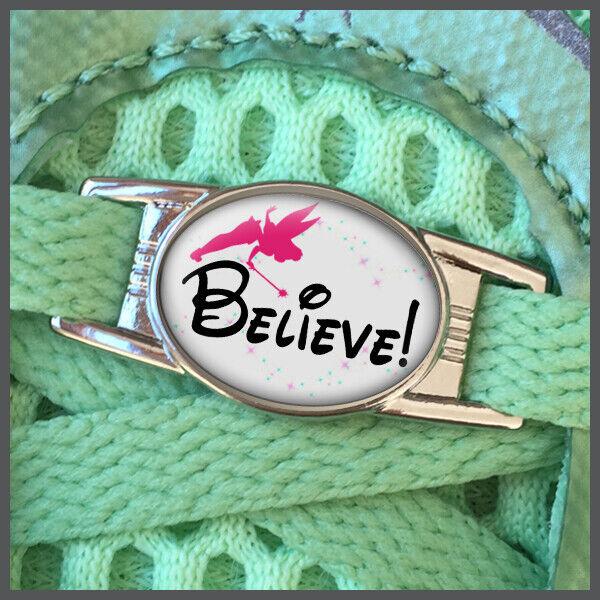 RunDisney Believe with Tinkerbell Stardust Shoelace Shoe Charm or Zipper Pull