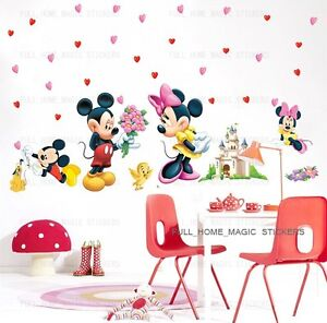 Mickey-Minnie-Mouse-Love-Wall-Stickers-Children-Nursery-Girl-Room-Decor-REUSABLE