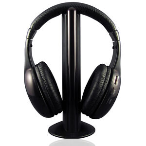 Promotion-5In1-Wireless-Headphone-for-PC-MP3-FM-Radio-VCD-Player-FM-Transmitter