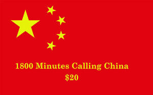 PINless $20 1800 Mins PrePaid Calling International Phone Card China eDelivery