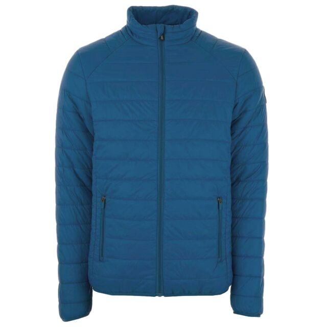 Henleys Men's Demolition Padded Coat Jacket Blue