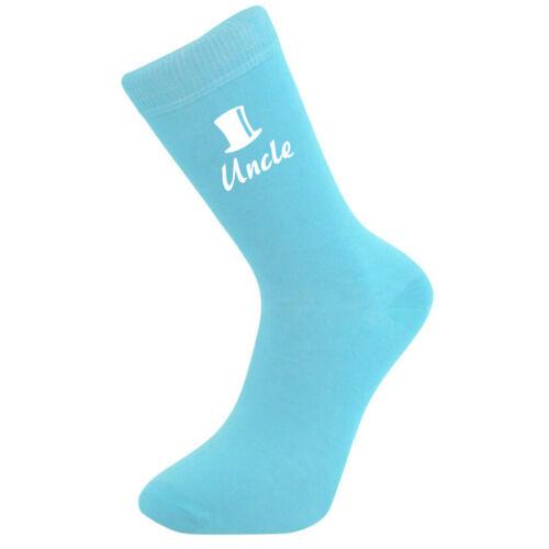 Groom Usher Fat Best Man Light Blue Cotton Rich Top Hat Design Wedding Socks