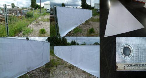 PVC Netz Sichtschutz 10m x 1,8m ca.280g//g//m² Weiß Nicht Wasserdicht Ohne Ösen!