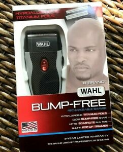 Wahl Bump Free Rechargeable Foil Shaver With Hypoallergenic Titanium Cutters 43917102009 Ebay