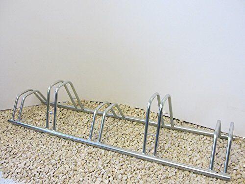 5 Section Dual Height Flat Top Jumbo sized Cycle Rack//Bike Stand