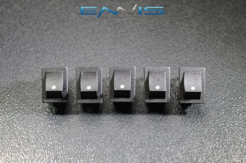 10 PCS MINI ON OFF ROCKER SWITCH 12 V 10 AMP 2 PIN TOGGLE 1//2 3//4 HOLE EC-1210