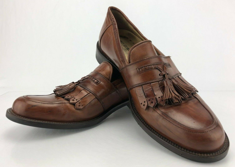 Johnston Murphy Aragon II Tassel Loafers Brown Leather Dress shoes Mens Sz 8 M
