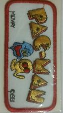 """PACMAN MIDWAY VIDEO GAME ARCADE EMBROIDERED IRON ON PATCH 4.25"""" x 2"""""""