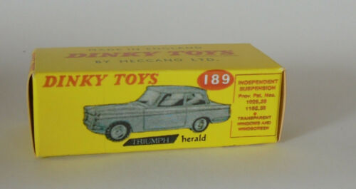Repro box Dinky nº 189 Triumph Herald