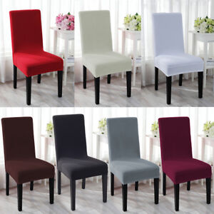 1 4 6pcs spandex stretch chair cover seat covers wedding dining room rh ebay com dining room chair seat covers diy dining room chair seat covers target