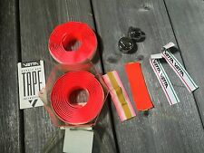 VINTAGE BIKE BICYCLE RED BAR TAPE WITH CAPS HANDLEBAR TAPE BARTAPE NOS