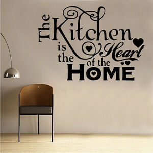 image is loading kitchen heart of home wall sticker art kitchen - Kitchen Sayings