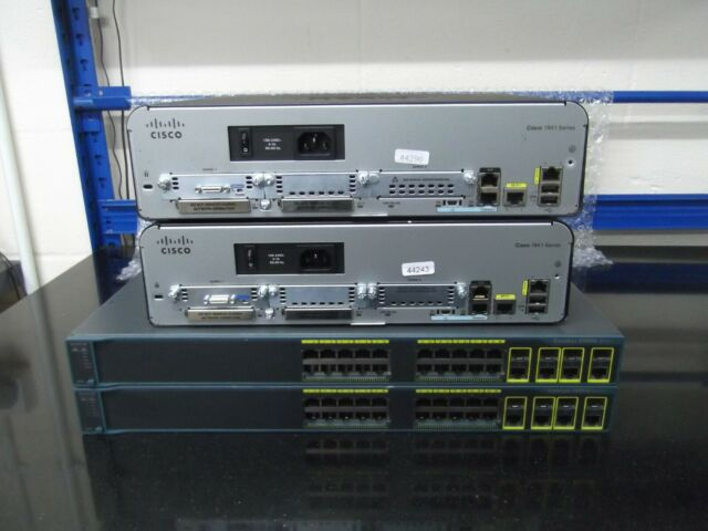 Cisco Avancé Lab Kit 2 X Cisco 1941 + 2 X WS-C2960G-24TC-L + Câbles Tout Ios 15