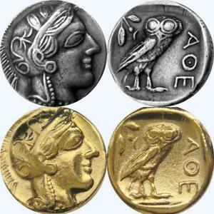 Athena-amp-Owl-2-FINISHES-Version-2-Greek-Coins-Percy-Jackson-Fans-77-S-G