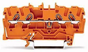 WAGO 4-L-Durchgangsklemme 1,5qmm 2001-1402 orange 800V//8kV//3 18A 10 Stück