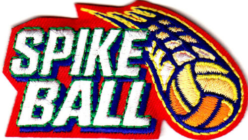 SPIKE BALL Iron On Patch Sport Competition Games