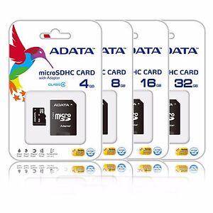 ADATA 32GB 16GB 8GB 4GB Micro SD HC Class 4 Memory Card Galaxy Tab 3 S4 S5 Lot